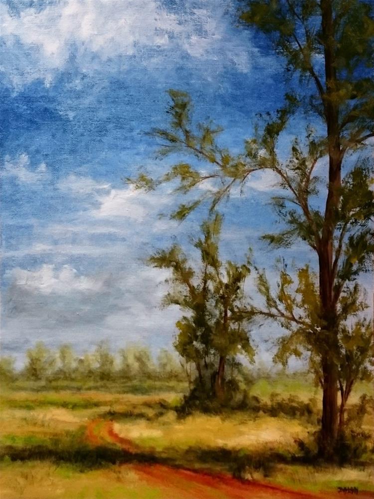 """Where The Road Goes"" original fine art by Dalan Wells"