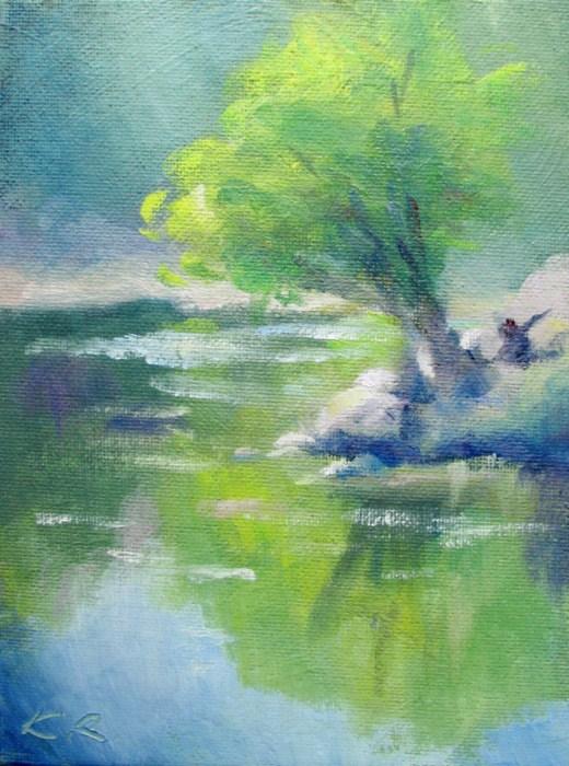 """River Whisper"" original fine art by Keiko Richter"
