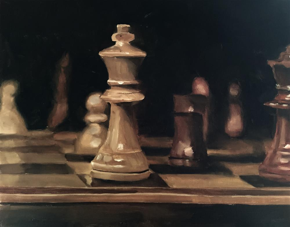 """Chess"" original fine art by James Coates"