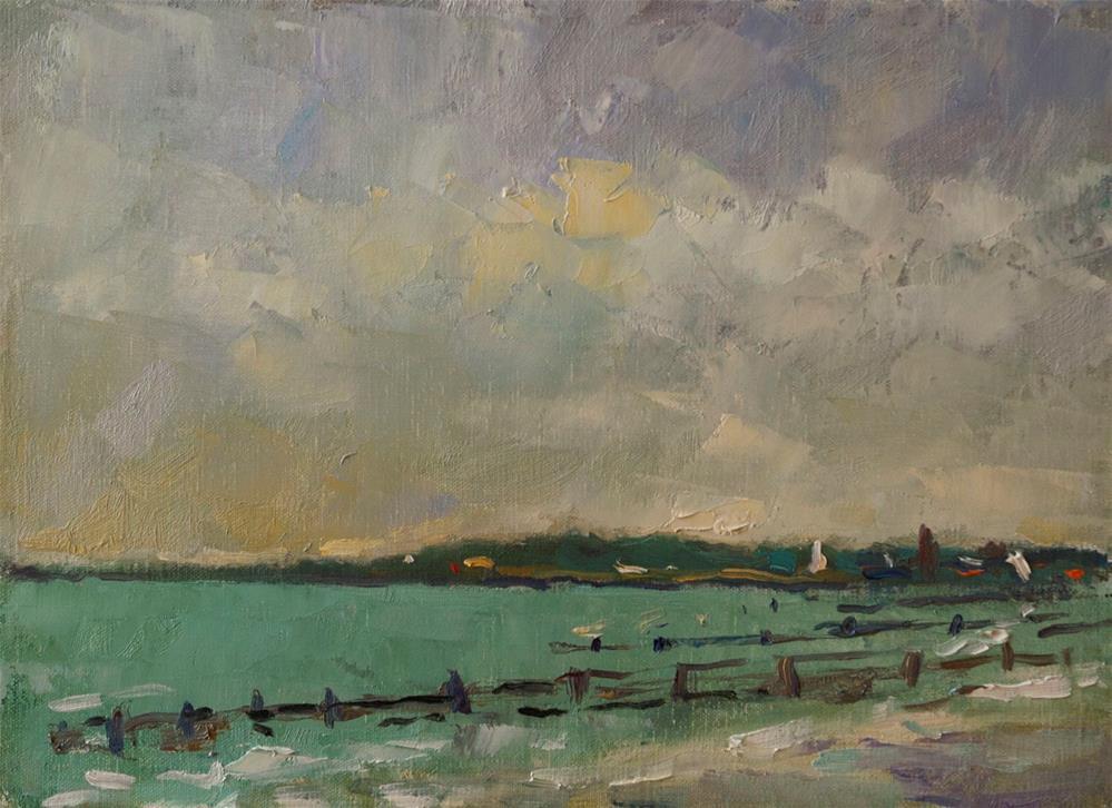 """""""The Beach at Littlehampton"""" original fine art by Andre Pallat"""