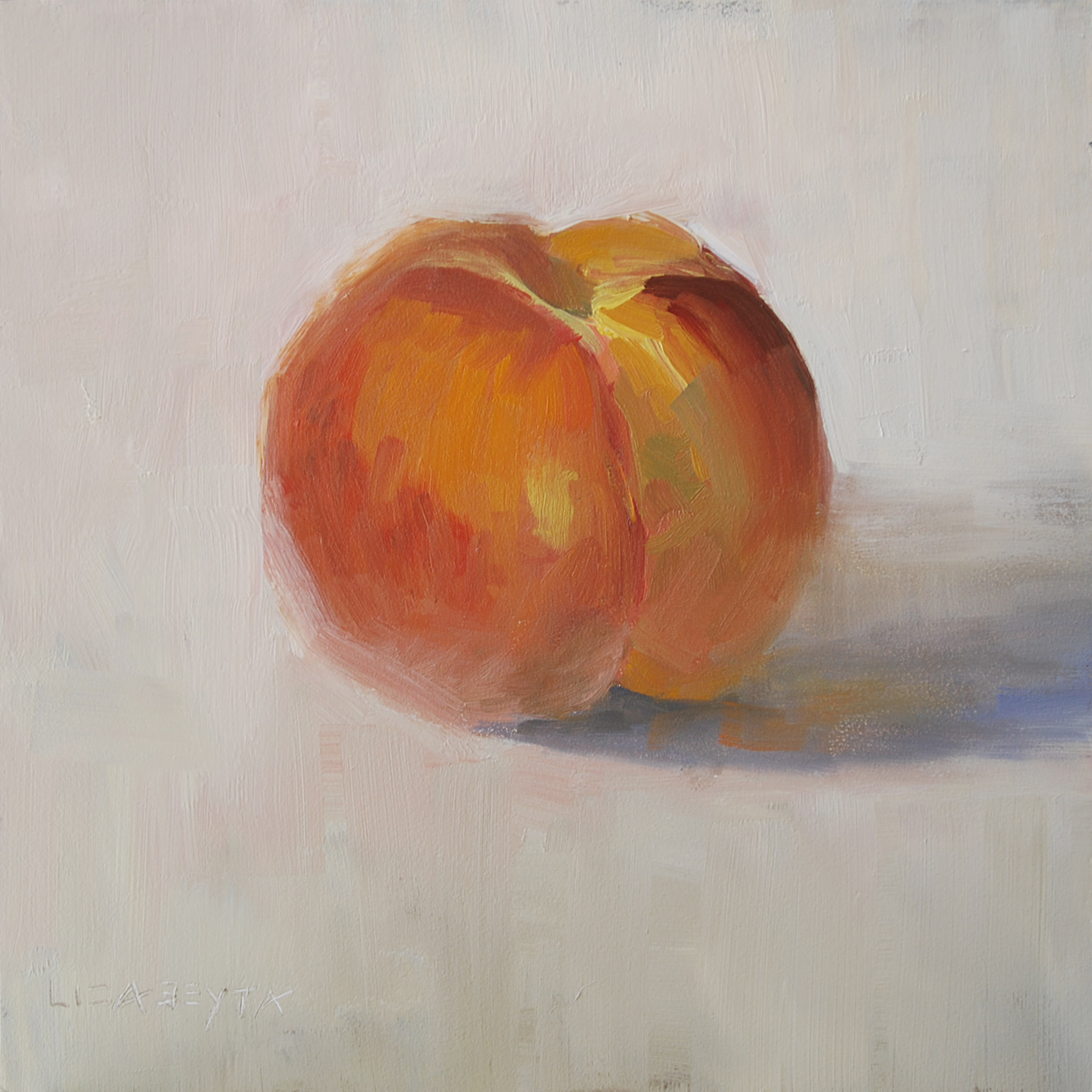 """Peach"" original fine art by Liz Abeyta"