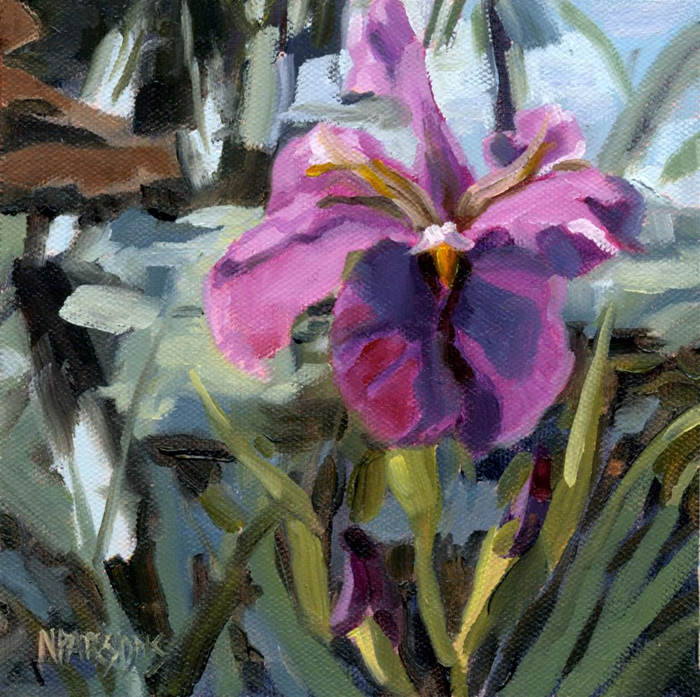 """Iris Eyes Are Smiling"" original fine art by Nancy Parsons"