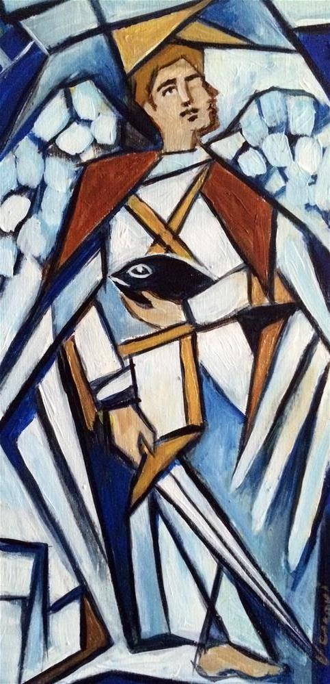 """St. Raphael"" original fine art by Valerie Vescovi"