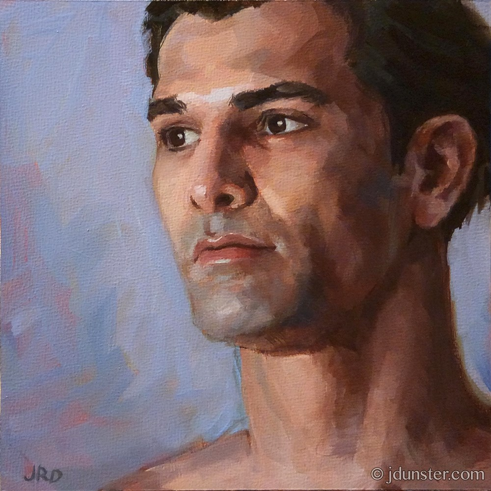 """Cesar: Study in Lavendar"" original fine art by J. Dunster"