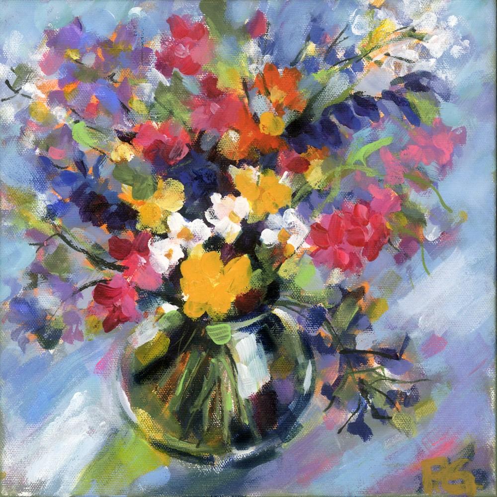 """""""Little Bitty Floral"""" original fine art by Pamela Gatens"""