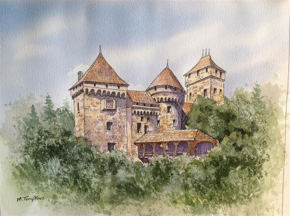 """German Castle"" original fine art by Mark Tompkins"