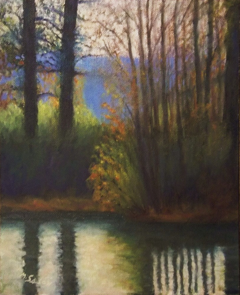 """Reflections - larger work"" original fine art by Michael Sason"