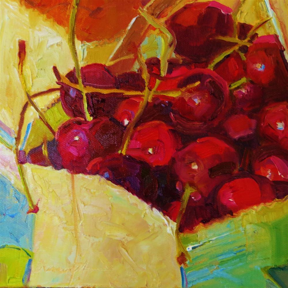 """""""Cherries-Sweet!"""" original fine art by Scarlet Owl Studio"""
