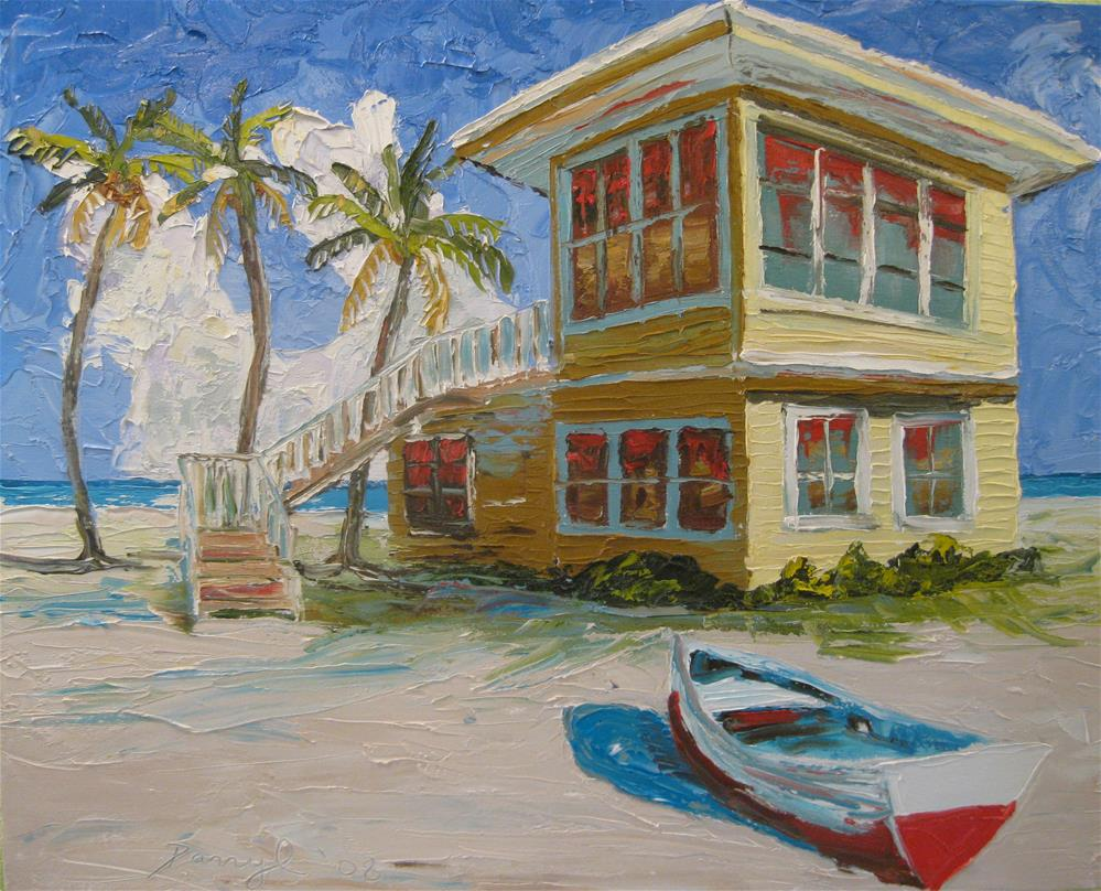 """The Yellow Beach House"" original fine art by Darryl Freeman"