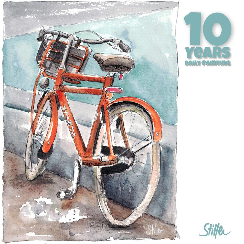 """""""3676 Sparta Bike"""" original fine art by Dietmar Stiller"""