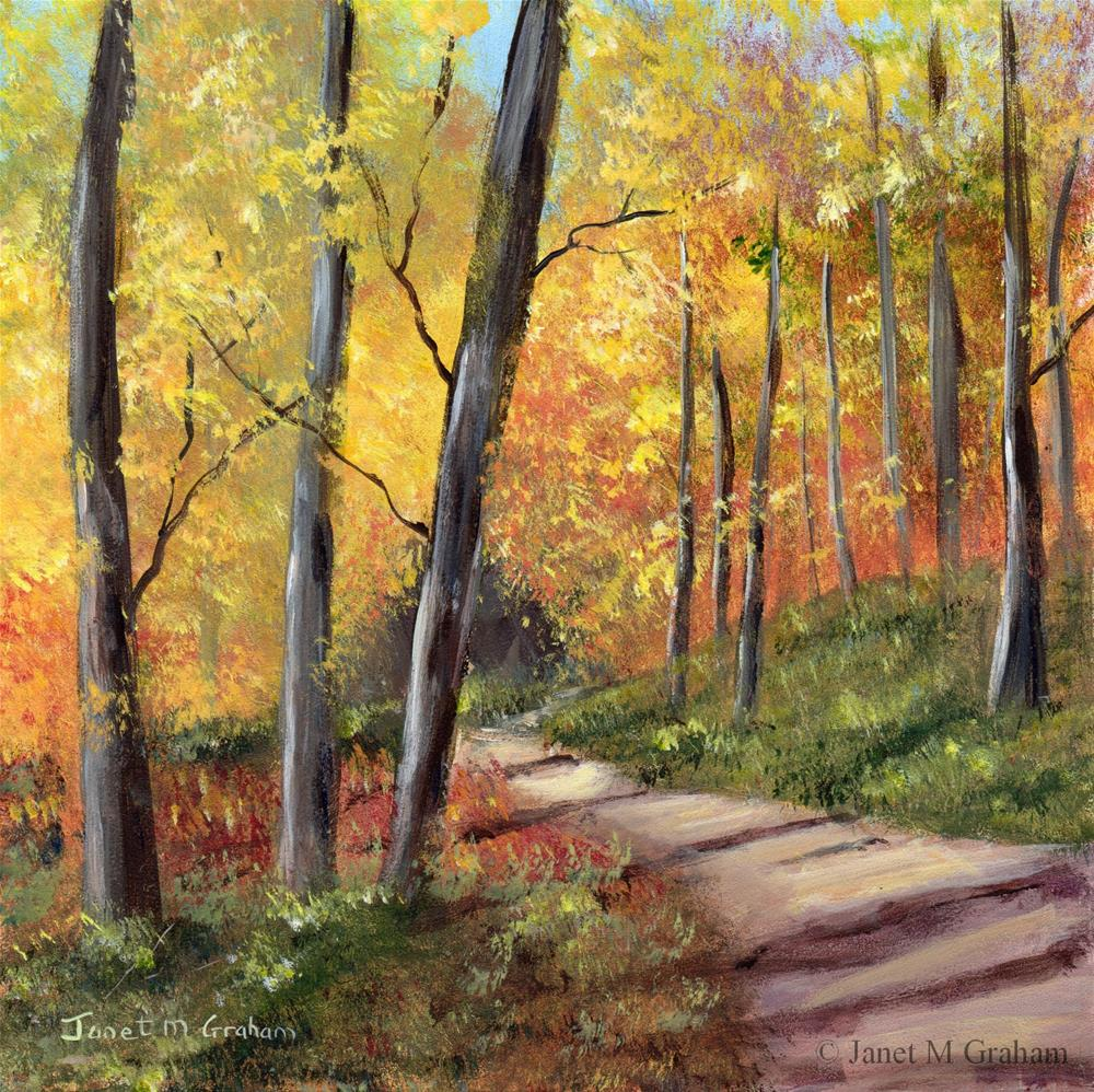 """Autumn Path"" original fine art by Janet Graham"