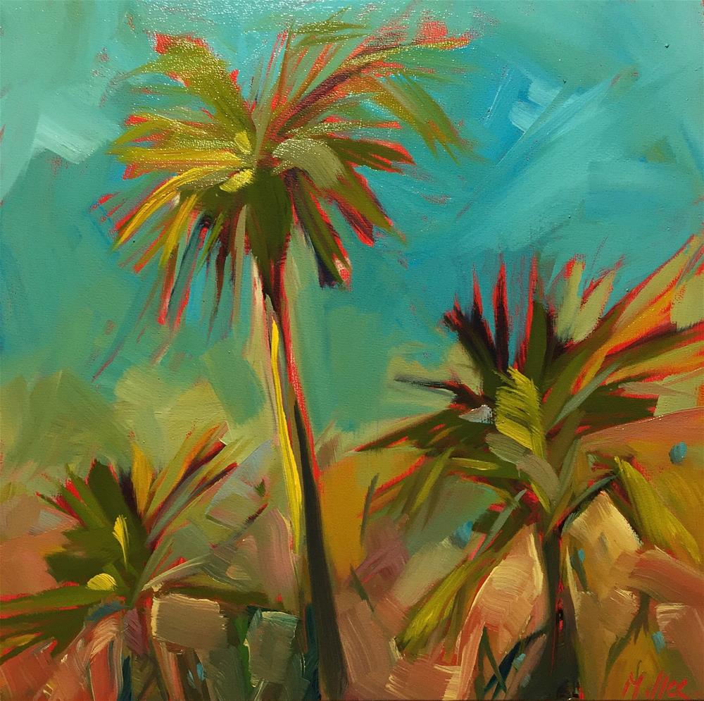 """0458: Palm Trees in the Afternoon Sun"" original fine art by Brian Miller"