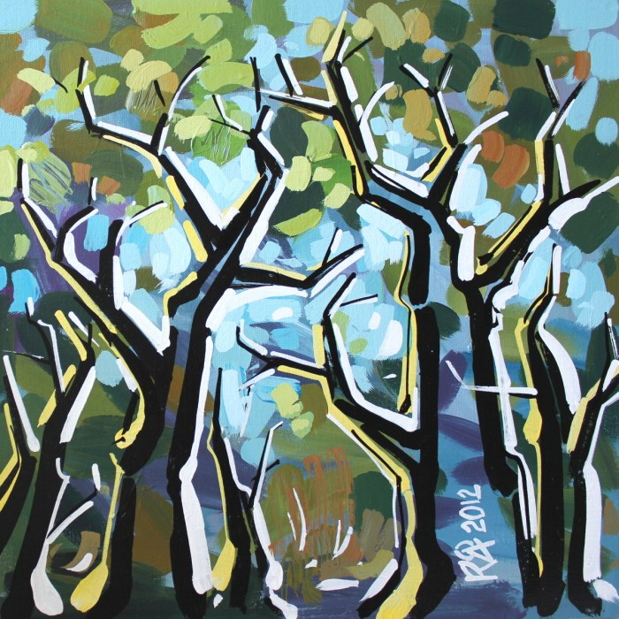 """""""Tree abstraction 17"""" original fine art by Roger Akesson"""