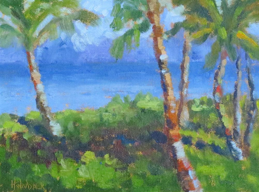 """Maui Palms and Fun News"" original fine art by Pam Holnback"