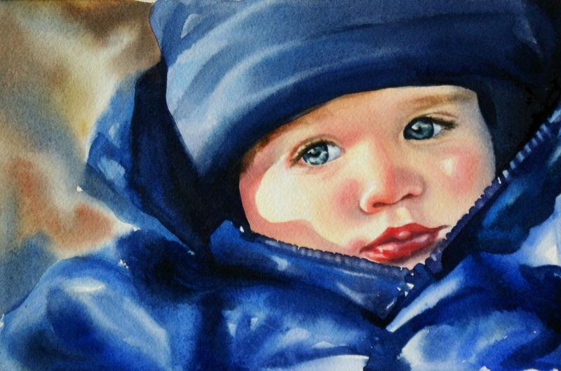 """""""Bundled Up"""" original fine art by Crystal Cook"""
