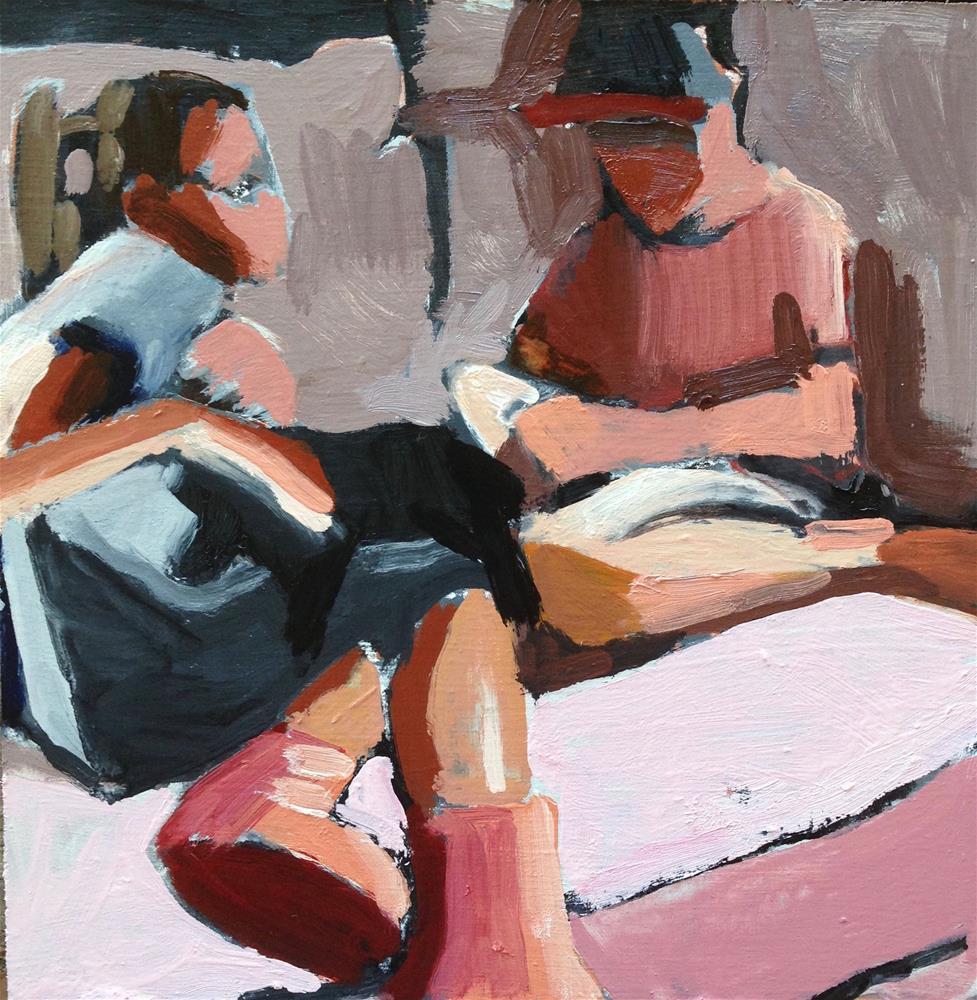 """Cousins With Roxie Hart"" original fine art by Pamela Hoffmeister"