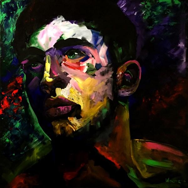 """""""Mark Webster Artist - Portrait Painting - Dave C. 0410"""" original fine art by Mark Webster"""