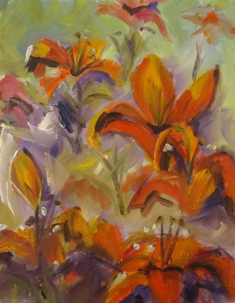 """""""Day Lilies No. 3"""" original fine art by Delilah Smith"""