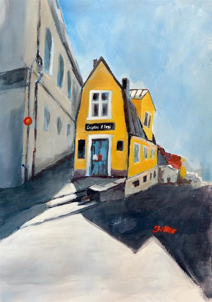 """""""1762 Visby House"""" original fine art by Dietmar Stiller"""