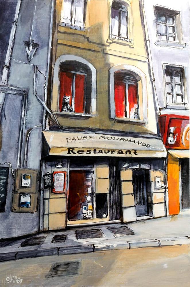 """3082 La Grinning Chatte"" original fine art by Dietmar Stiller"