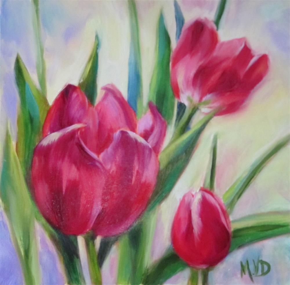 """""""Garden Tulips"""" original fine art by Mary Van Deman"""