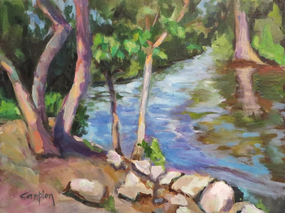 """""""613 Afternoon at Remingtons"""" original fine art by Diane Campion"""