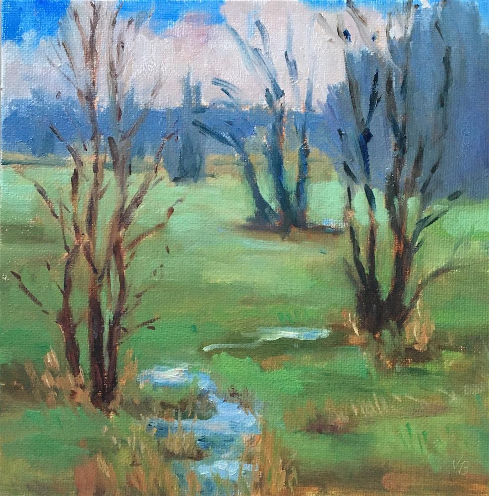 """""""A Day at the Wetlands"""" original fine art by Victoria  Biedron"""