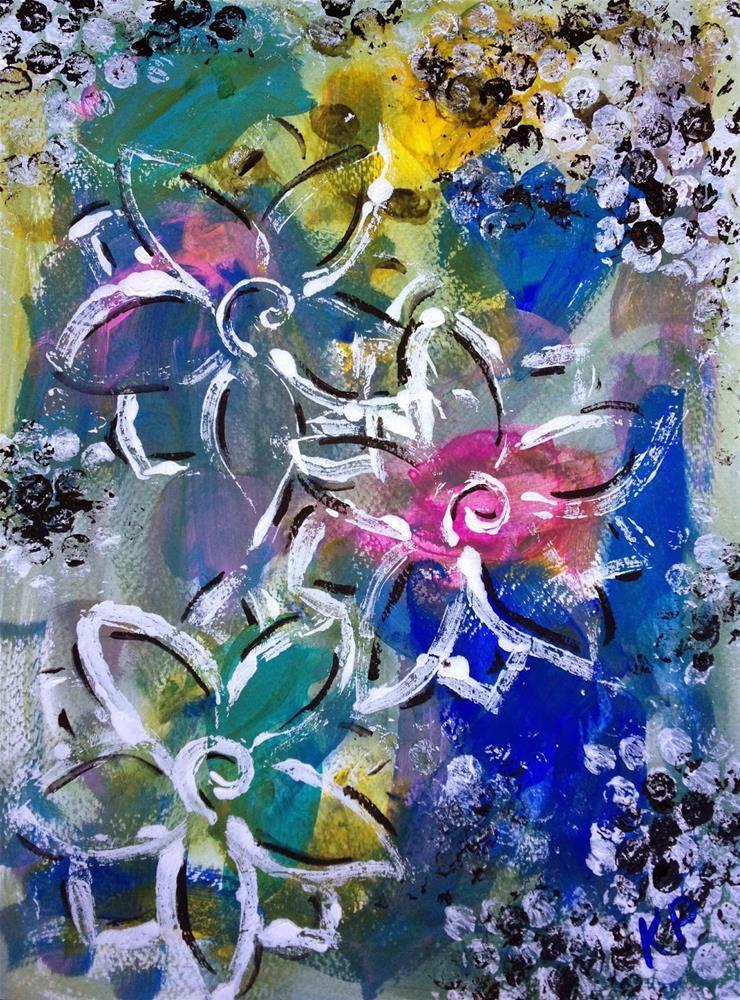 """Whimsy Flowers"" original fine art by Kali Parsons"