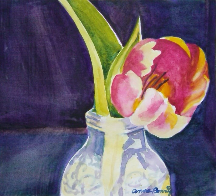 """First Tulip"" original fine art by Anna Penny"