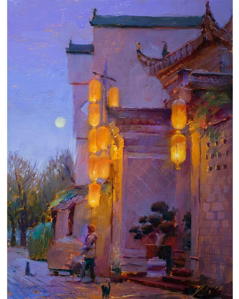 """Chinatown"" original fine art by Dimitriy Gritsenko"