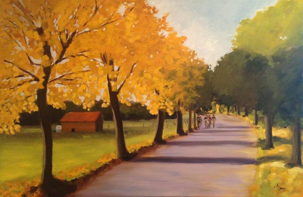 """""""Golden Leaves"""" original fine art by Karen D'angeac Mihm"""
