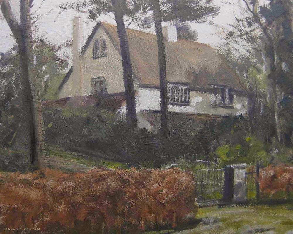 """House on the top. Doetinchem, Holland."" original fine art by René PleinAir"
