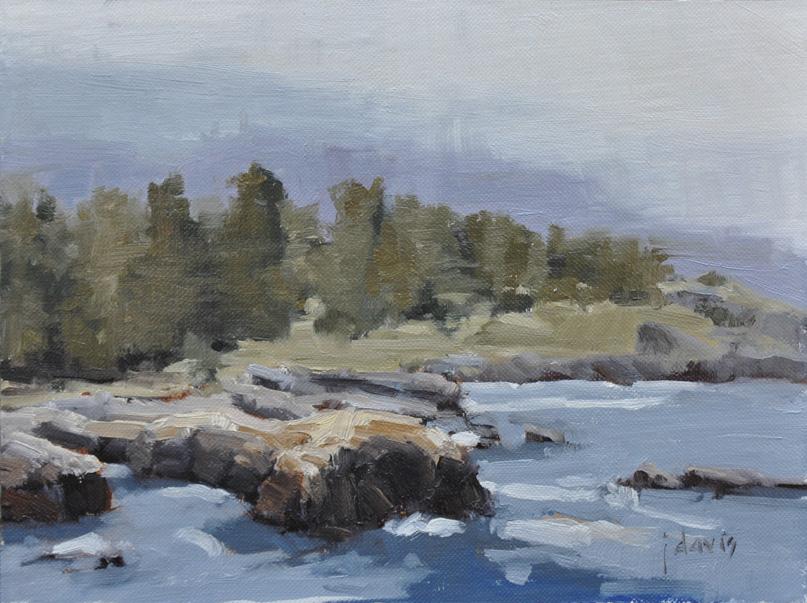 """Point Lobos Rocks"" original fine art by Julie Davis"