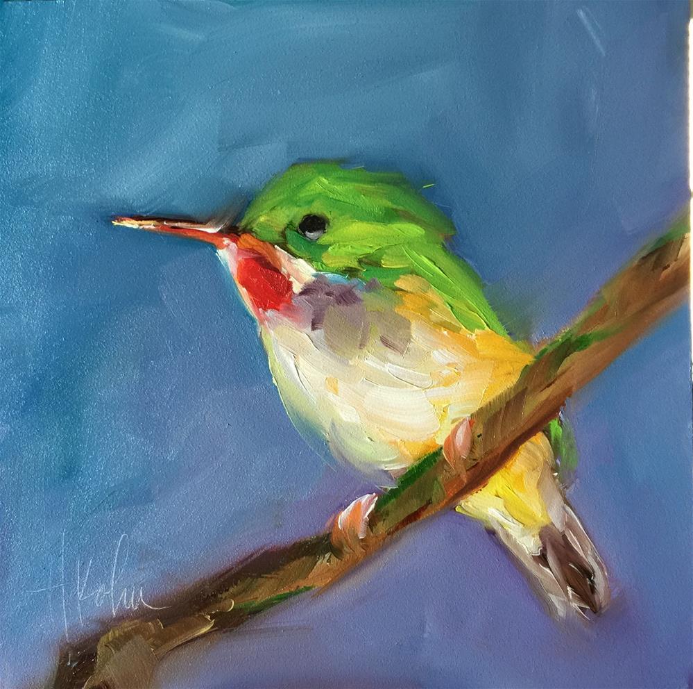 """Little Bird"" original fine art by Hallie Kohn"
