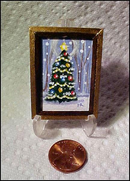"""""""Tiny Christmas Tree"""" original fine art by Patricia Ann Rizzo"""