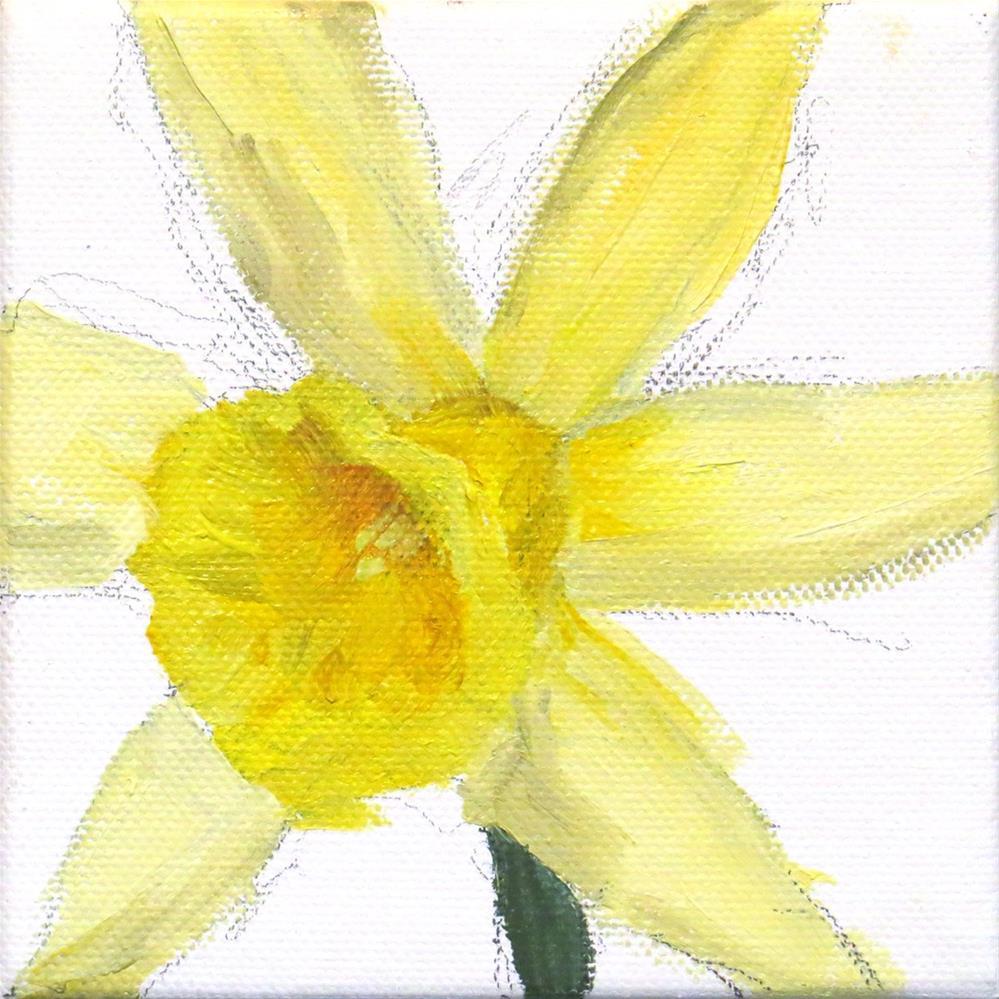 """Daffodil and White"" original fine art by Marsha Savage"