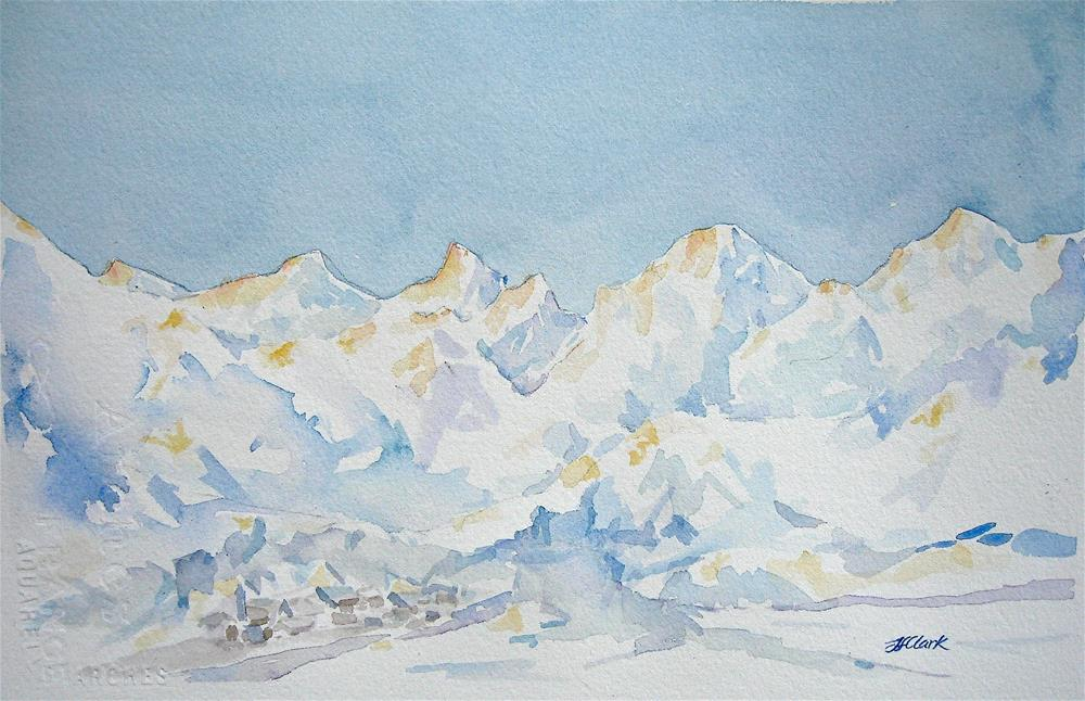"""Alpen Glow"" original fine art by Judith Freeman Clark"