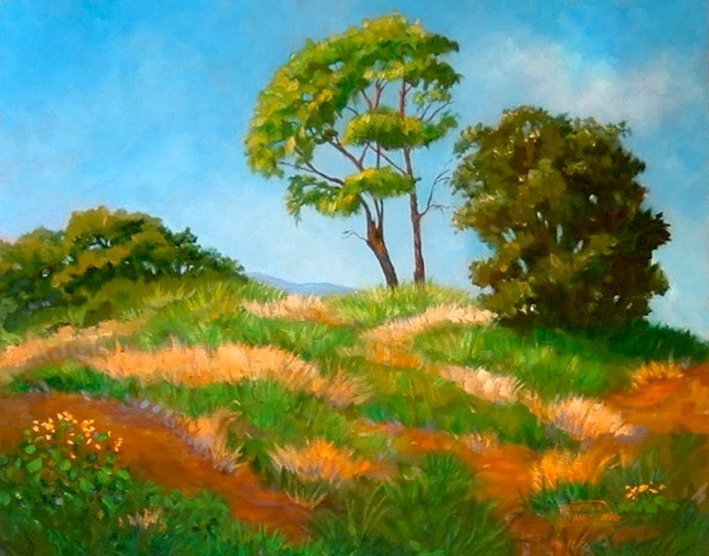 """Top of the Hill"" original fine art by Patricia Musgrave"
