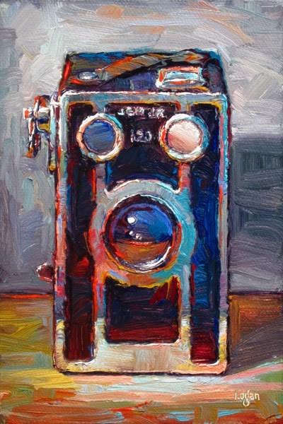 """Jem Jr. 120 Brownie Box Camera"" original fine art by Raymond Logan"