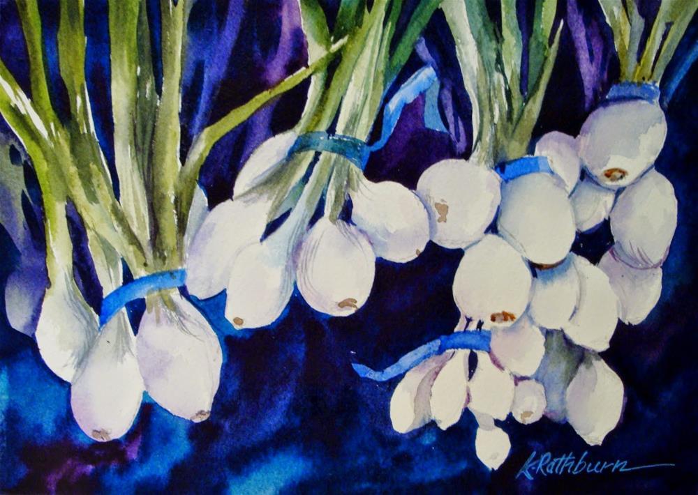 """I love Onions"" original fine art by Kathy Los-Rathburn"