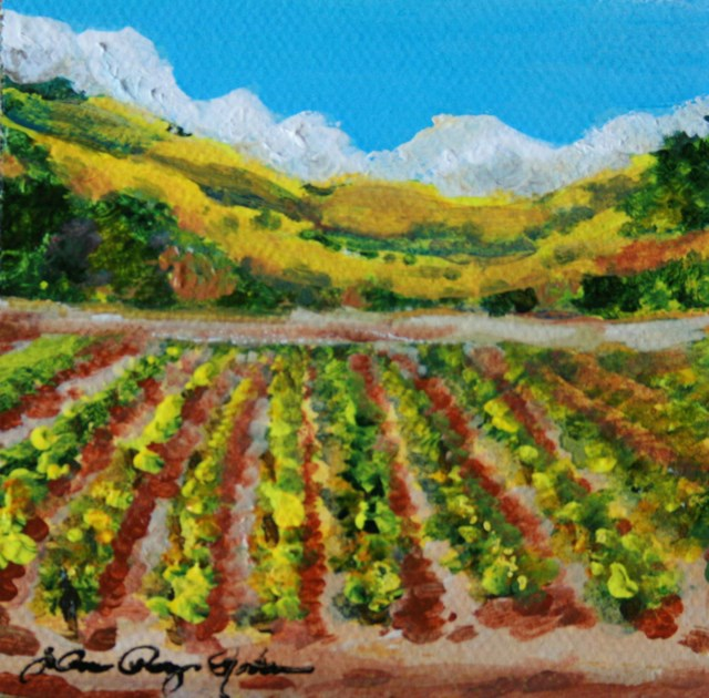 """""""Rows and Rows"""" original fine art by JoAnne Perez Robinson"""