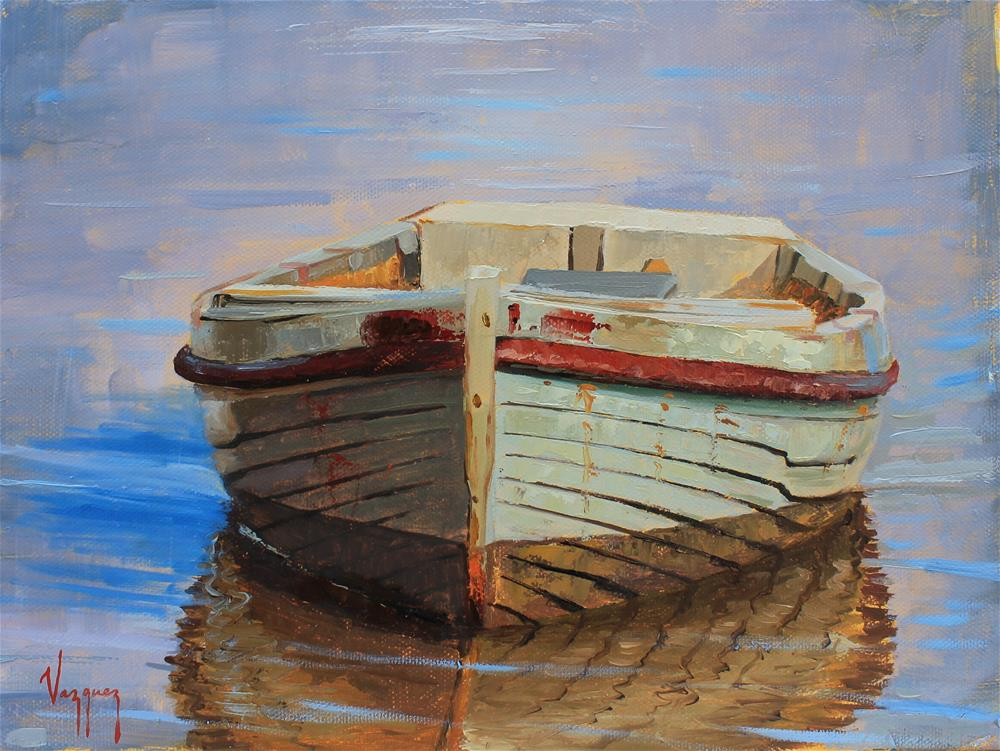 """""""front side of a boat """" original fine art by Marco Vazquez"""