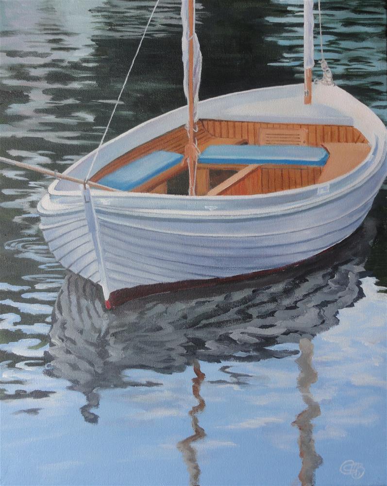 """Rippled Reflection"" original fine art by Christine Blain"