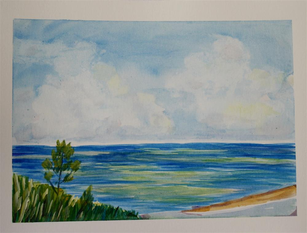 """Shades Beach 2"" original fine art by Maggie Flatley"