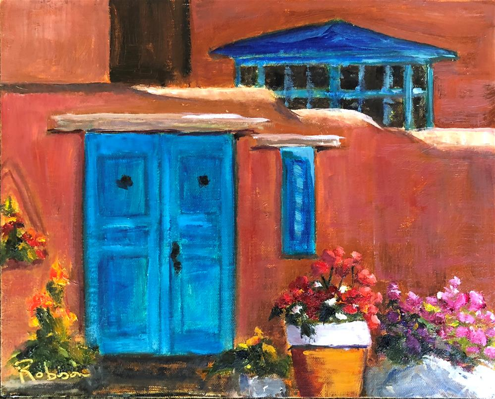 """Blue Doors at the End of the Day"" original fine art by Renee Robison"