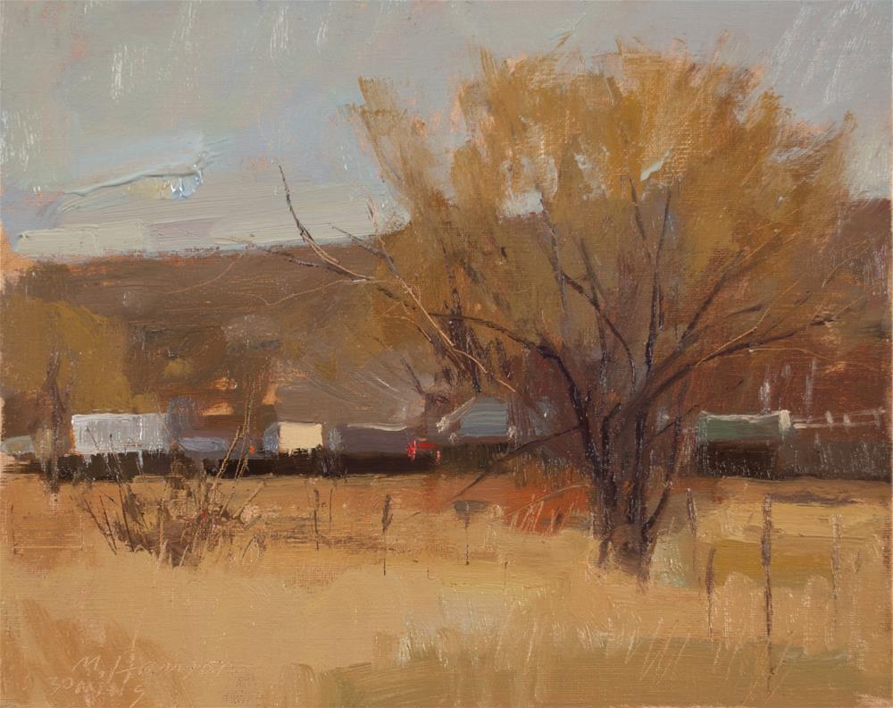 """2-17-5 Behind An Old Fence"" original fine art by Marc Hanson"