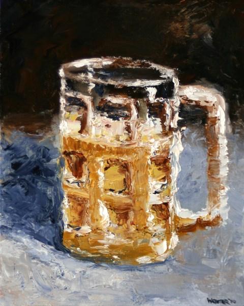 """""""Mark Webster - Beer Mug Palette Knife Oil Painting"""" original fine art by Mark Webster"""