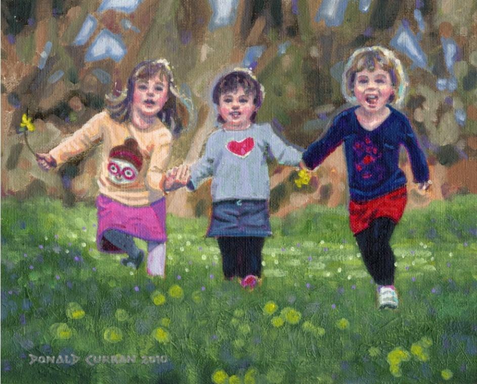 """Best Friends"" original fine art by Donald Curran"