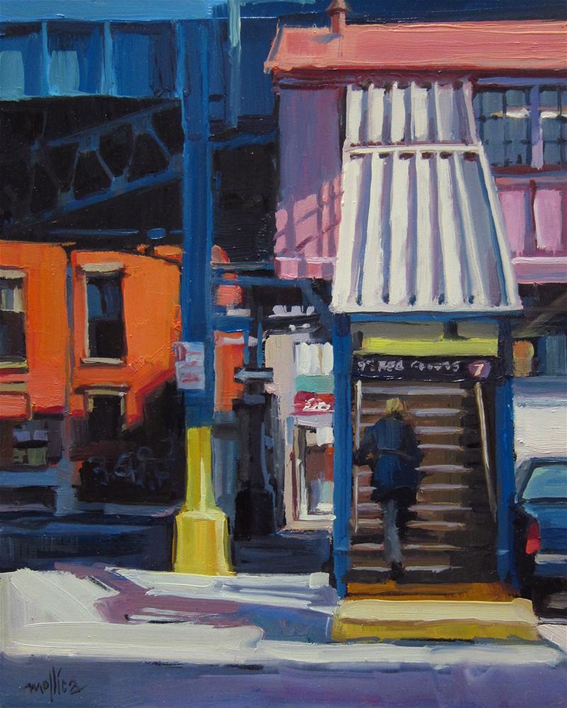 """Blonde Ascending a Staircase"" original fine art by Patti Mollica"