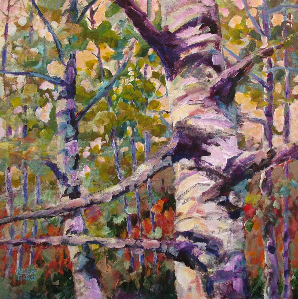 """""""A Sparkle in the Forest"""" original fine art by Melissa Gannon"""